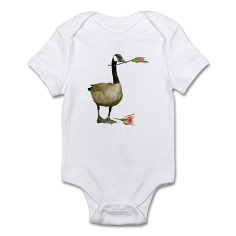 Canada Goose With Rose Infant Bodysuit