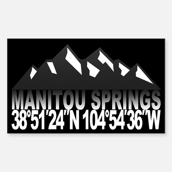 Manitou Springs Sticker (Rectangle)