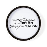 Hair salon Wall Clocks