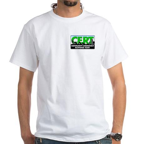White CERT shirt