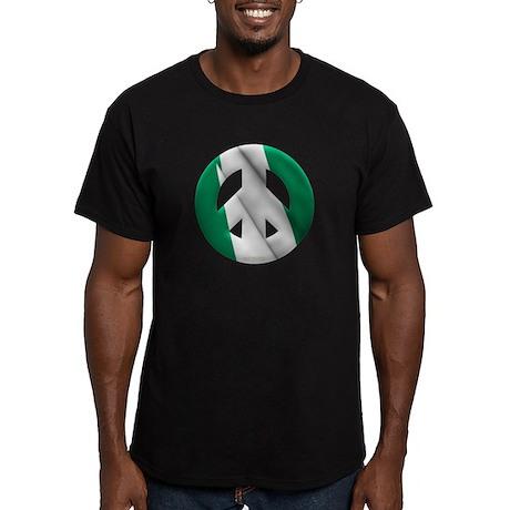 Nigeria Men's Fitted T-Shirt (dark)