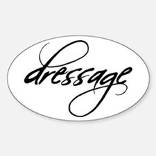 dressage (black text) Oval Decal