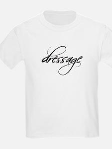 dressage (black text) Kids T-Shirt