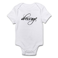 dressage (black text) Infant Creeper