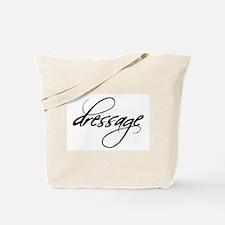 dressage (black text) Tote Bag