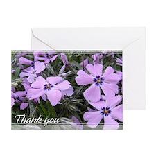 Purple Phlox Thank You Card 5x7