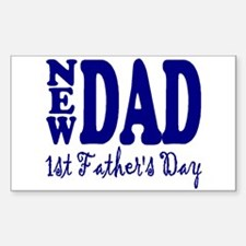FIRST FATHER'S DAY Sticker (Rectangle)