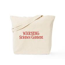 Warning! Science Tote Bag