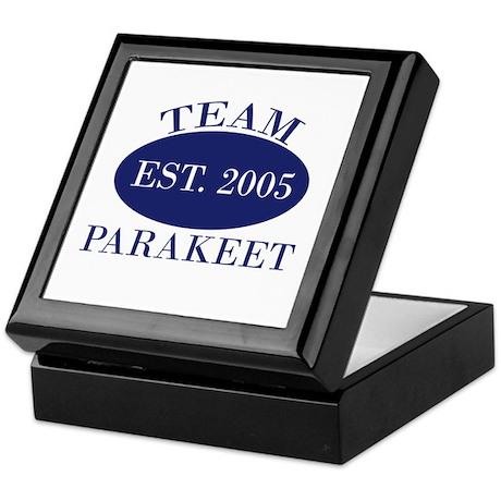 Team-2 Parakeet Est. 2005 Keepsake Box