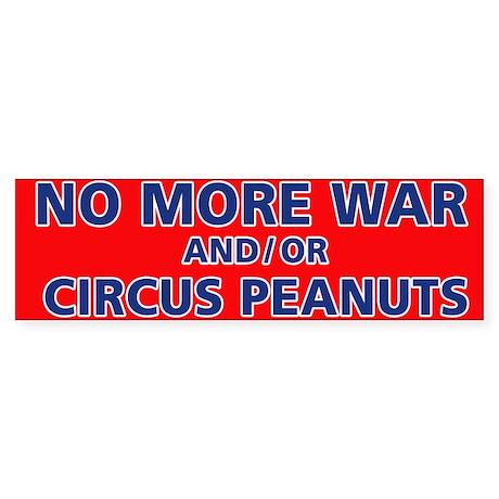Anti-war and circus peanuts Sticker (Bumper)