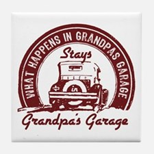 Grandpa's Garage Tile Coaster