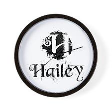 Cute Hailey Wall Clock