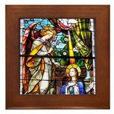 The Annunciation Framed Tile