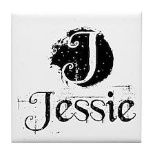 Jessie Grunge Tile Coaster