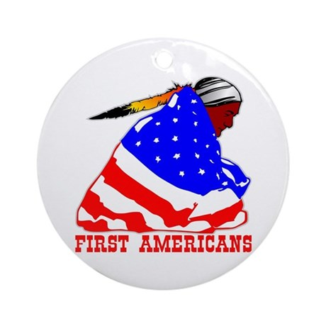 First Americans Ornament (Round)