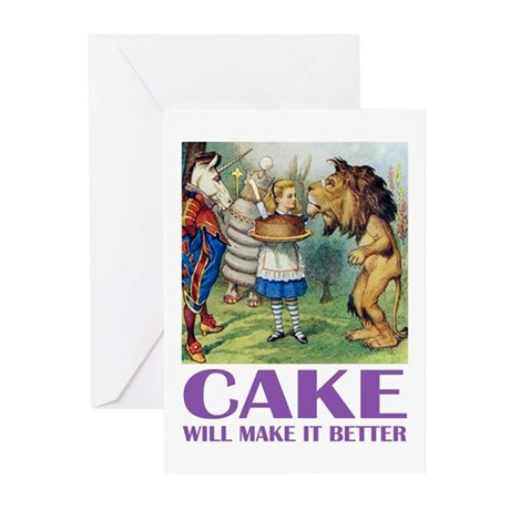 CAKE WILL MAKE IT BETTER Greeting Cards (Pk of 20)