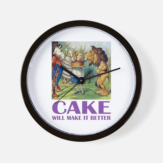 CAKE WILL MAKE IT BETTER Wall Clock