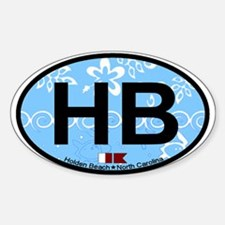 Holden Beach NC - Oval Design Decal