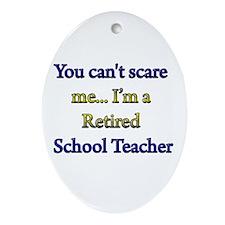 Cute Teachers Oval Ornament
