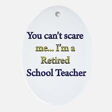 Unique Retired teacher Oval Ornament