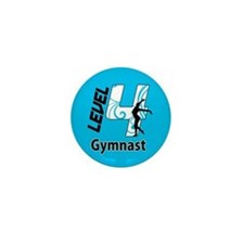 Blue Level 4 Gymnast Mini Button (10 pack)