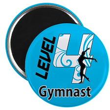 Blue Level 4 Gymnast Magnet