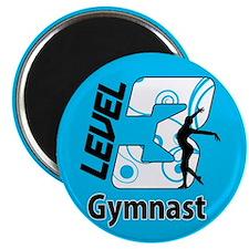 Blue Level 3 Gymnast Magnet
