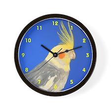Cockatiel in Pastel - Wall Clock