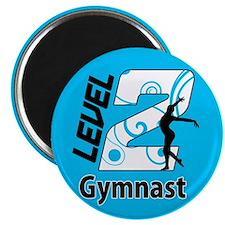 Blue Level 2 Gymnast Magnet