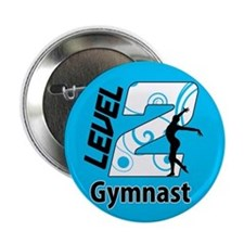 "Blue Level 2 Gymnast 2.25"" Button"