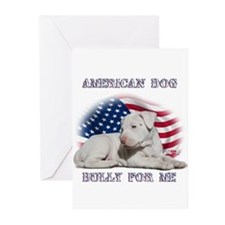 Bully for Me, American Dog Greeting Cards (Pk of 1