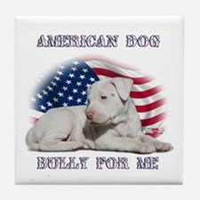 Bully for Me, American Dog Tile Coaster