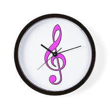 Pink Musical Love Wall Clock