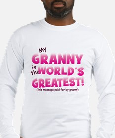 World's Greatest Granny (pink) Long Sleeve T-Shirt