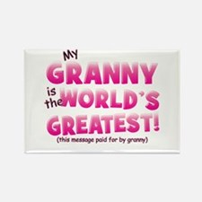 World's Greatest Granny (pink) Rectangle Magnet