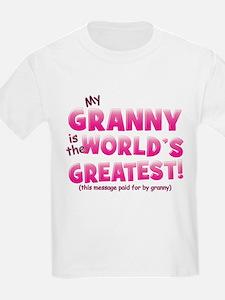 World's Greatest Granny (pink) T-Shirt