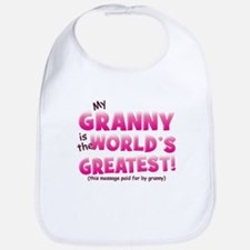 World's Greatest Granny (pink) Bib