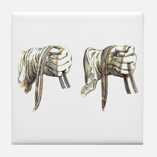 Dressage Hands Tile Coaster