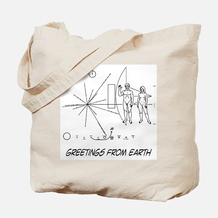 Greetings From Earth Tote Bag