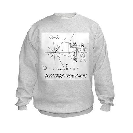 Greetings From Earth Kids Sweatshirt