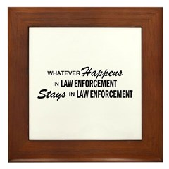 Whatever Happens - Law Enforcement Framed Tile