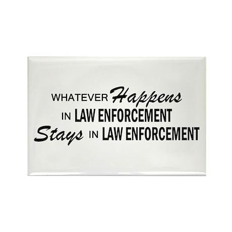 Whatever Happens - Law Enforcement Rectangle Magne