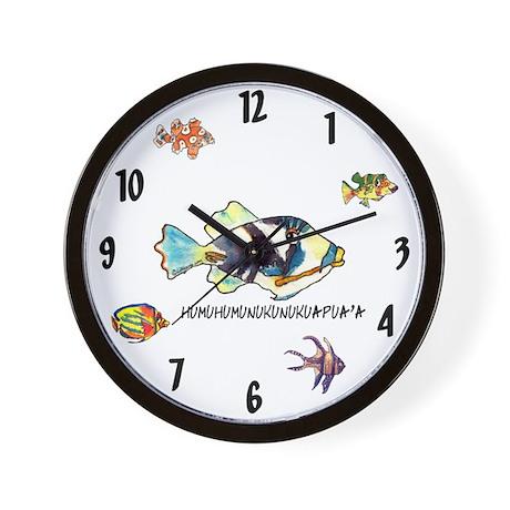 Humu humu fish wall clock by humuhumu2 for Fish wall clock