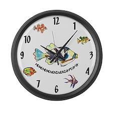 HumuNuku Fish Large Wall Clock