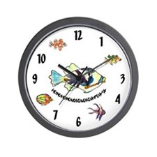 HumuNuku Fish Wall Clock
