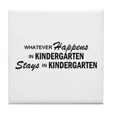Whatever Happens - Kindergarten Tile Coaster