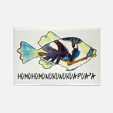 HumuNuku Fish Rectangle Magnet