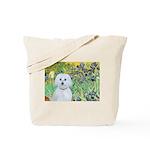 Irises / Maltaese (B) Tote Bag