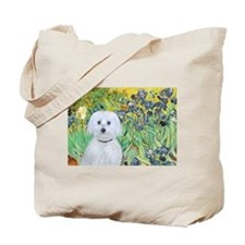 Irises / Maltaese (B) Tote Bag