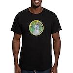 Irises / Maltaese (B) Men's Fitted T-Shirt (dark)